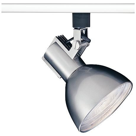 track lighting styles transitional. This Glimmering Transitional Track Head Features A Large Half-dome Shade Spotlight In Soft Brushed Lighting Styles