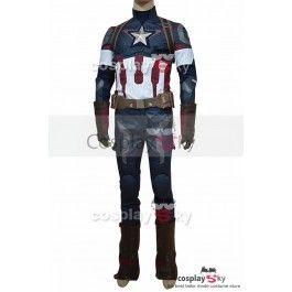 Мстители: Эра Альтрона Капитан Америка Стива Роджерса Форма Наряд Косплей Костюм |  CosplaySky.ru
