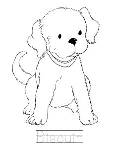 Biscuit The Dog Coloring Book Pages Sketch Page