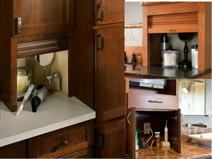 Add an appliance garage to your bathroom to keep all the for Bathroom appliances