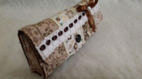 Parírzsebkendő tartó (barna), solba66, meska.hu