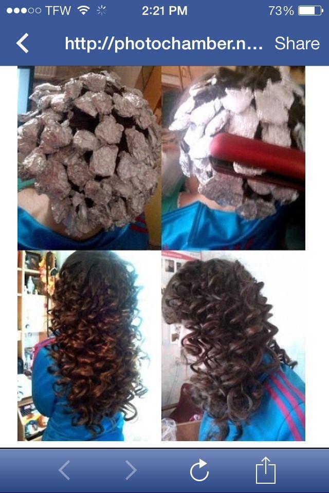 Tin Foil Curls ❤️❤️
