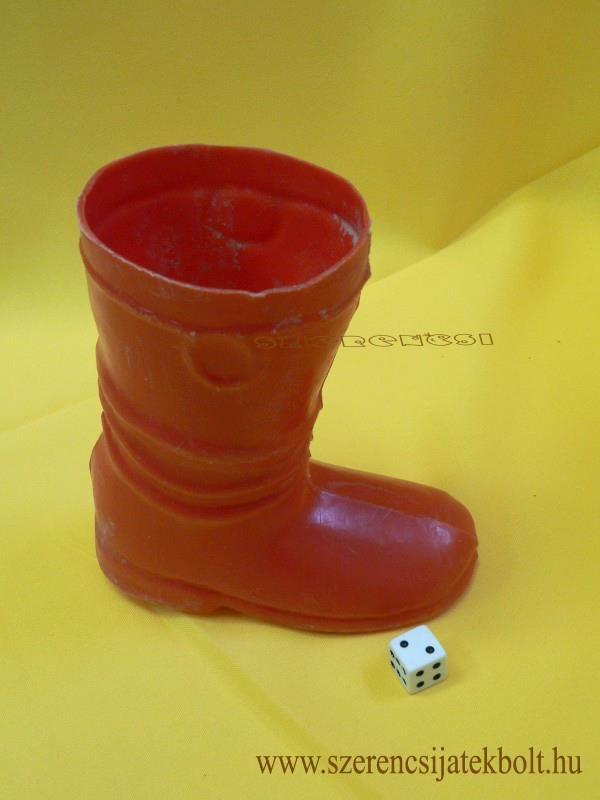 plastic boot for Santa... - Hungarian retro