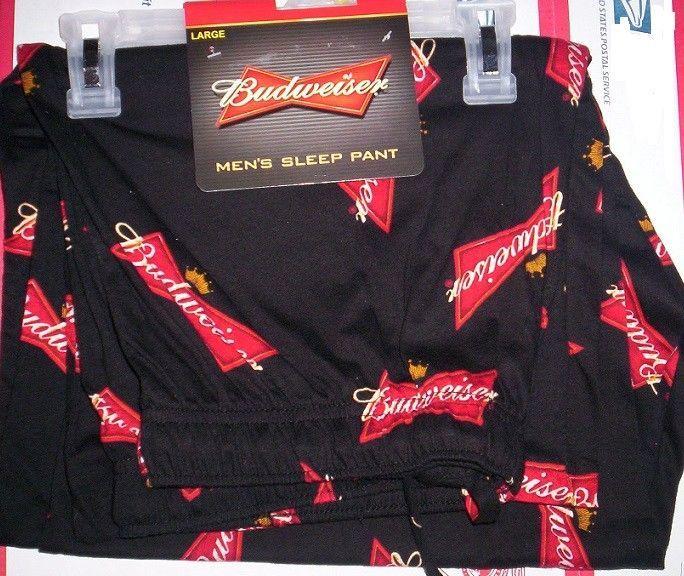 NWT Men/'s L 36-38 Budweiser King Of Beers Logo Design Lounge Pajama Pants