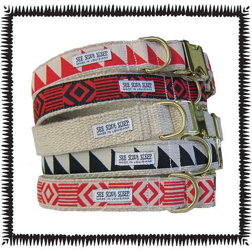 geometric dog collars from see scout sleep. india wants the bottom one and mason wants the black triangles.