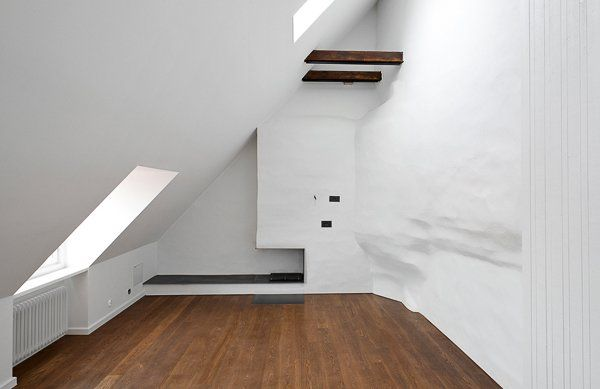 Attic conversion. Studio Ljung & Ljung Adding a storey to existing apartment by converting the attic to living space. Project for a private customer in Stockholm 2013.