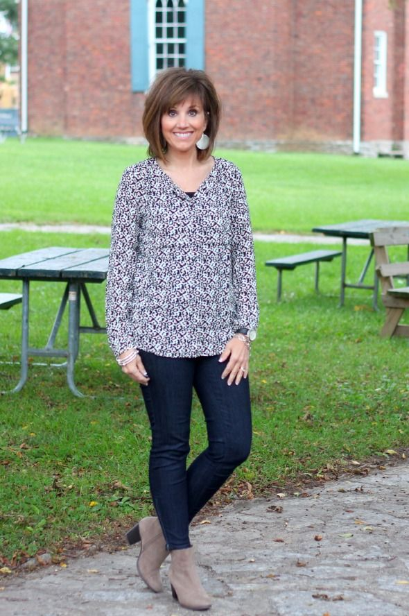 Fall Fashion - try these ankle zip jeans with black booties from Old Navy