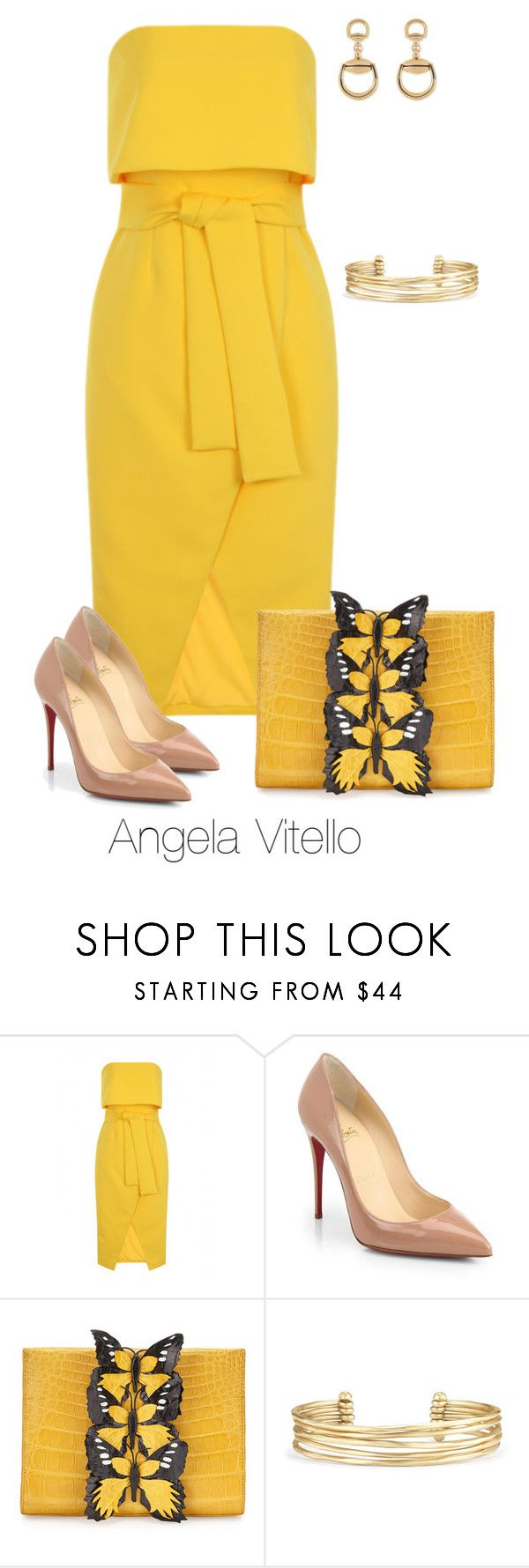 """Untitled #734"" by angela-vitello on Polyvore featuring Lavish Alice, Christian Louboutin, Nancy Gonzalez, Stella & Dot and Gucci"