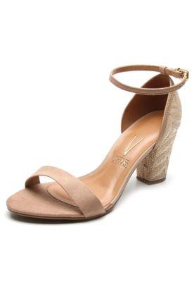 8c8150797 Sandália Vizzano Salto Grosso Bege | sapatos | Shoes, Sandals e Fashion