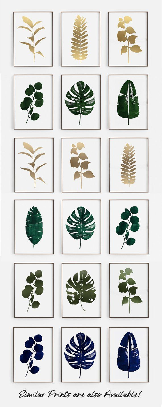 Green Leaf Prints Greenbotanical Prints Set Botanical Wall Art Modern Leaf Art Set Botanical Art Prints S Botanical Art Prints Botanical Wall Art Green Art