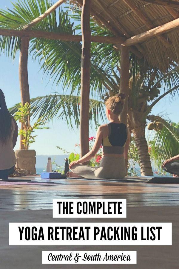 The Complete yoga retreat packing list - central south america - Costa Rica - Colombia - Nicaragua - Panama - Peru #yogaretreat #yoga #costarica #travel #colombia