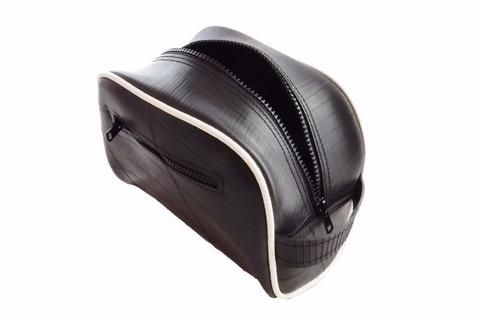 Recycled rubber dopp bag made from inner tube - Recycle Creative
