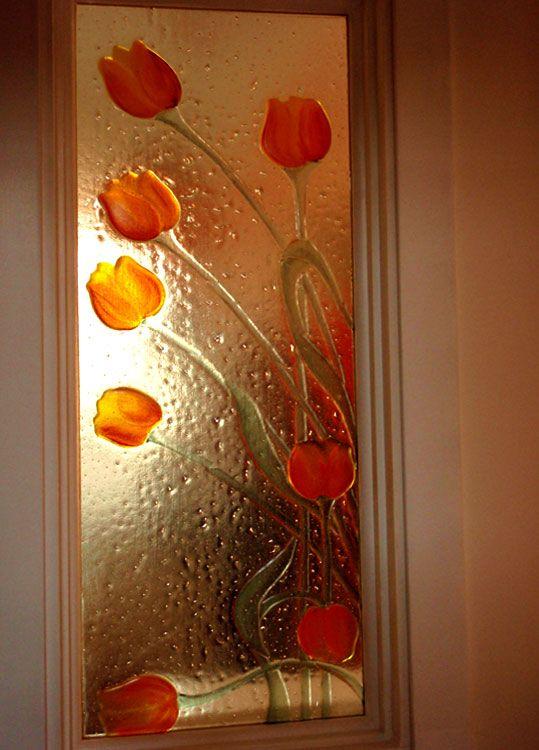 Tulipani. Vetrofusione e smalti