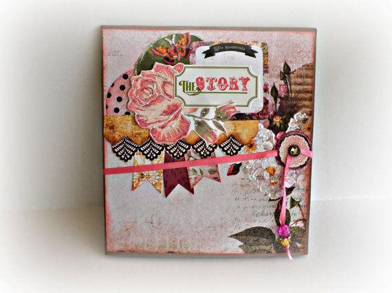 Accordion scrapbook mini album Photo mini album by sweetpaperlife