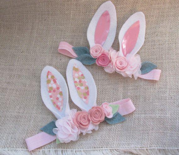 Infant Headband-Bunny Headband Easter Headband by VivibellesBows