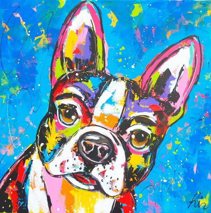 Franse Bulldog www.vrolijkschilderij.nl
