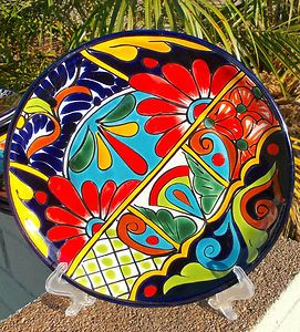 Mexican pottery dinner plate