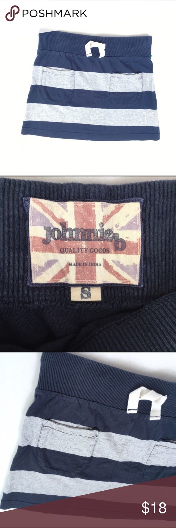 💥Boden Johnnie B Gray & Navy Striped Skirt Boden/Johnnie B Gray & Navy Striped Skirt, small Johnnie B Gray & Navy Striped jersey Knit Skirt, size small. Front pockets. Drawstring waist. In very good pre-owned condition!  🎀I carry all Sizes! Search for your size: 🎀BUNDLE and SAVE! 🎀REASONABLE offers WELCOME Make sure to visit my women's closet @designhive to BUNDLE and SAVE more! Just tag me in each listing you would like to bundle! Boden Bottoms Skirts