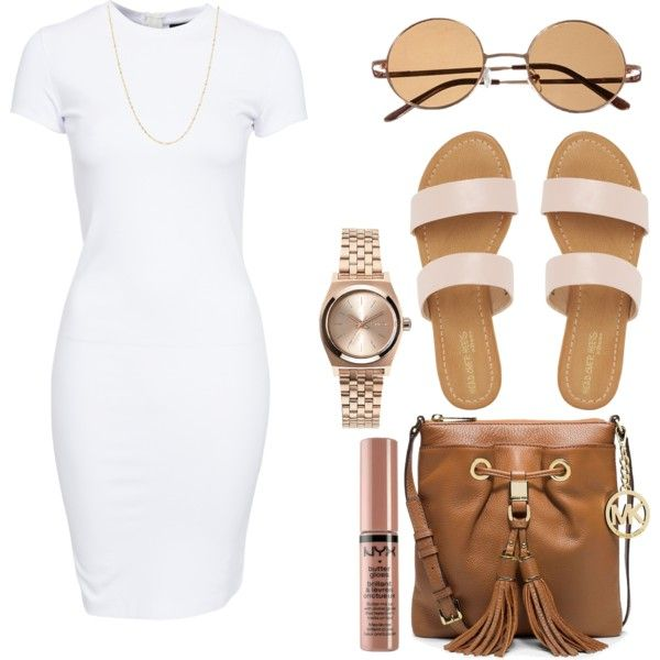 A fashion look from November 2015 featuring SELECTED dresses, MICHAEL Michael Kors shoulder bags and Topshop watches. Browse and shop related looks.