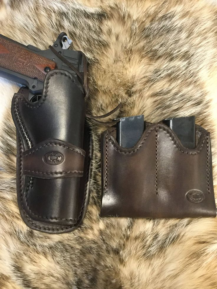 A personal favorite from my Etsy shop https://www.etsy.com/listing/581942279/western-style-1911-holster-and-double