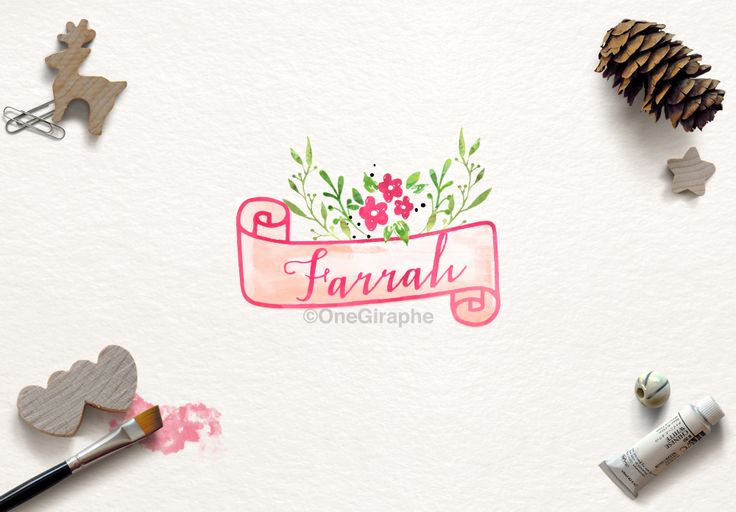 Farrah #1 for sale now: http://one-giraphe.com/prev.php?c=129 #logo #logodesign #graphic #graphicdesign #readymade #logostore #watercolor #watercolorlogo #etsy #pinterest #instagram #behance #dribbble #logopond #affordable #cheap #christmas #photography #watercolor #needlogo #readymade #logostore #stocklogos #etsy #seller #logo #feminine #pink #onegiraphe