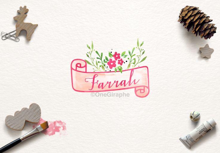 Farrah #1 for sale now: http://one-giraphe.com/prev.php?c=129 #logo #logodesign #graphic #graphicdesign #readymade #logostore #watercolor #watercolorlogo #etsy #pinterest #instagram #behance #dribbble #logopond #affordable #cheap #christmas #photography #watercolor #needlogo #readymade #logostore #stocklogos #etsy #seller #logo #feminine #pink #onegiraphe