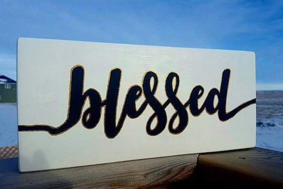 Blessed Sign Farmhouse Style Decor Inspired by Joanna Gaines from Fixer Upper