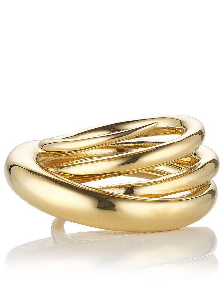 Gold Hurly Burly Ring | Charlotte Chesnais | Avenue32