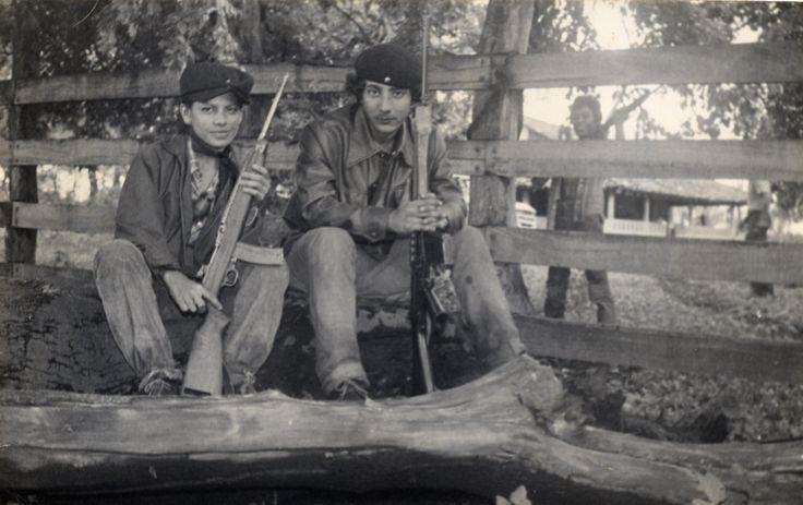"""Two """"sandinistas"""", María Luisa Méndez and Oscar Cortez, León, Nicaragua, 1979."""