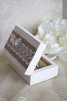 Prstene - Krabička na prstienky Rustic II. - 5091949_