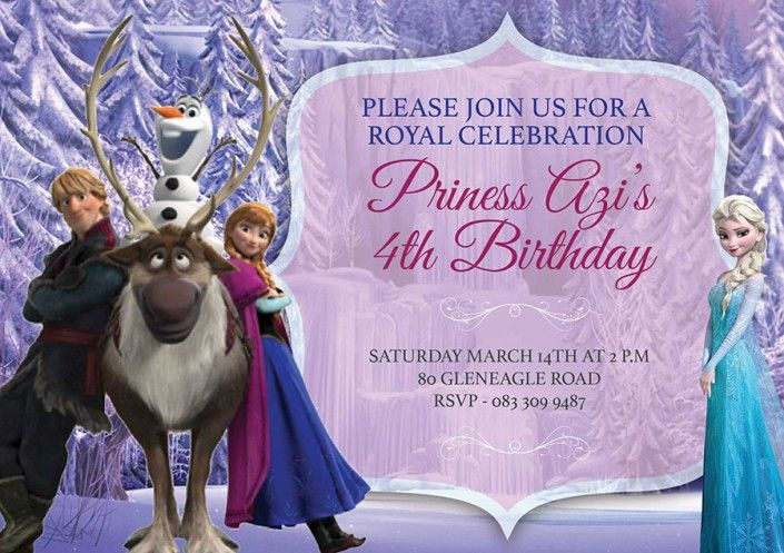Frozen birthday party invitation design by Very Cherry Design Studio