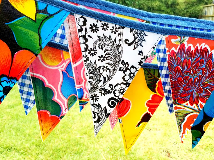 Mexican oilcloth bunting