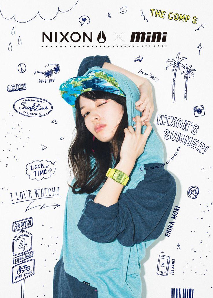 mini magazine x nixon illustraiton©GRAPHITICA