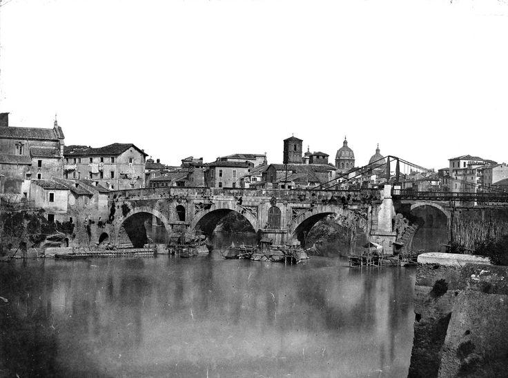 Ponte Rotto 1850 Rome, Italy