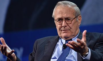 Donald Rumsfeld On George H.W. Bush Voting For Hillary Clinton: 'He's Up In Years' | Huffington Post