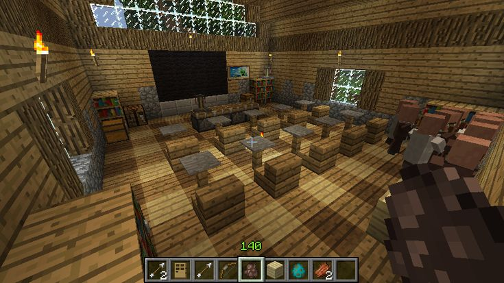Minecraft School - I guess it's free-reading time. :)