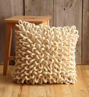 Free Patterns, Felted Loops Pillow & Felted Little Loops Pillow · Felting   CraftGossip.com