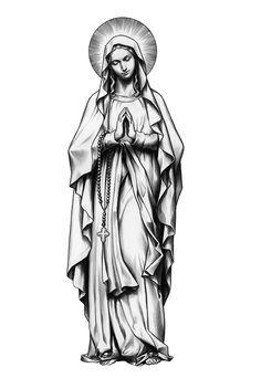 1940de51d Image result for tattoo art virgin mary | Religious Card Art | Mary ...