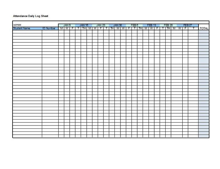 38 Free Printable Attendance Sheet Templates                                                                                                                                                     More