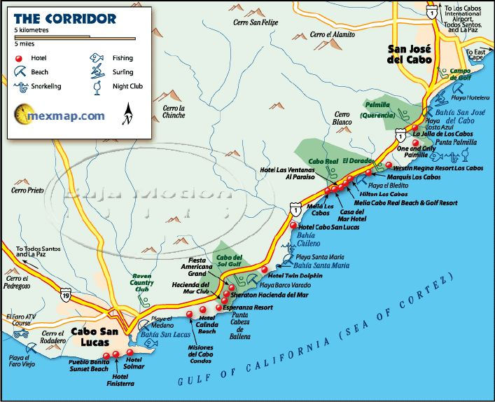 Best Wedding Location Cabo Cabo San Lucas Map Mexico