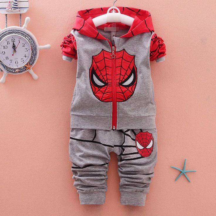 Hot New Fall Winter Brand Children's Suits Newborn Baby Boys Girls Cotton Suits Kids Hooede 2pcs Coats+Pants Sports Sets #FallFashion