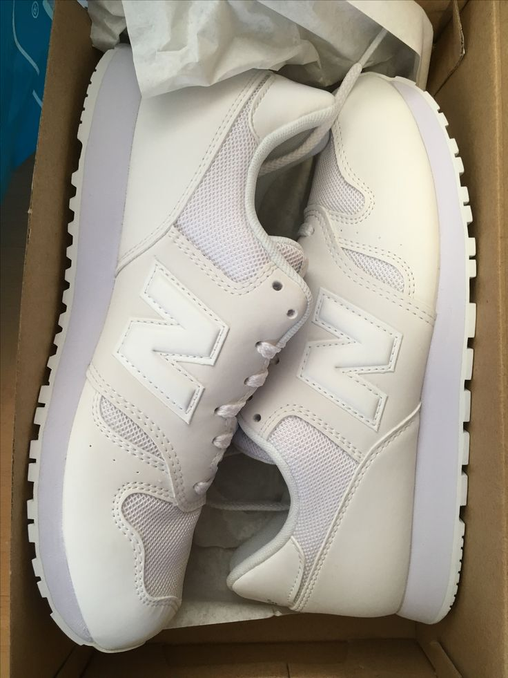New kicks - all white new balance