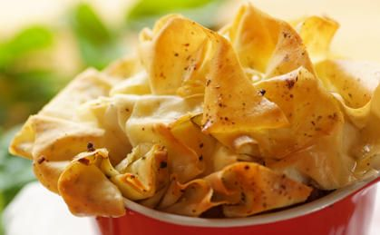 Phyllo-Topped Mince and Bean Pies Recipe