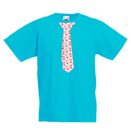 Tricou Cravata cu inimioare
