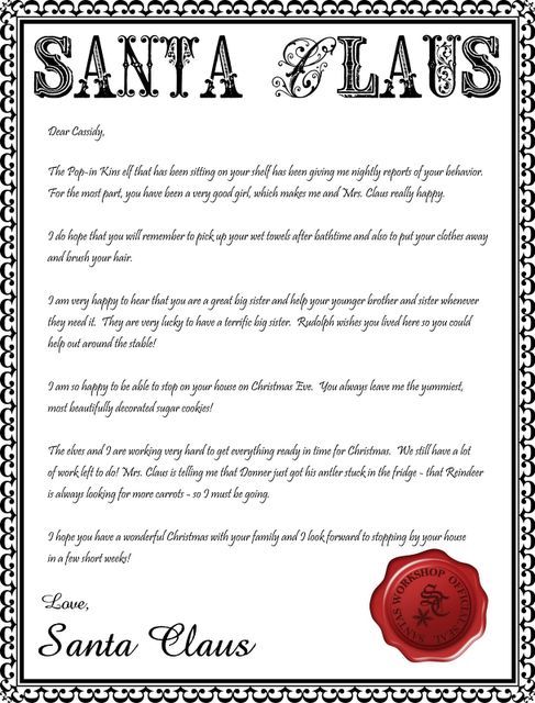 17 Best ideas about Free Printable Santa Letters on Pinterest ...
