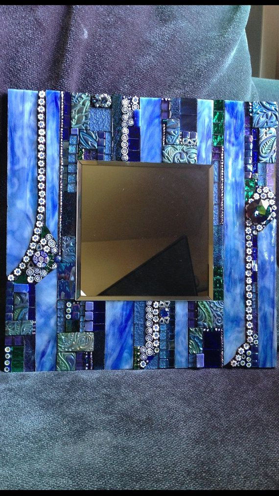 Blue Mosaic mirror