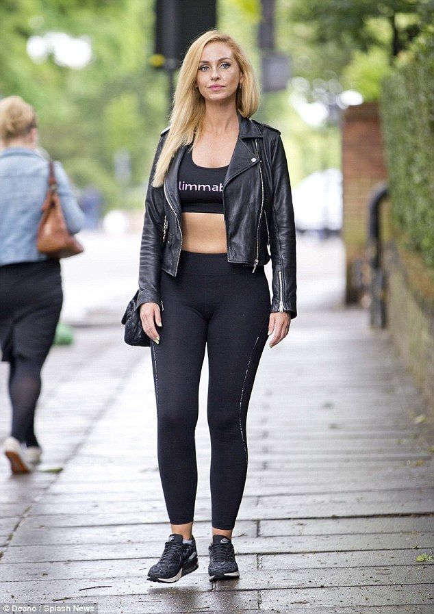 Strutting her stuff: Josie managed to make low-key exercise garb look sensational