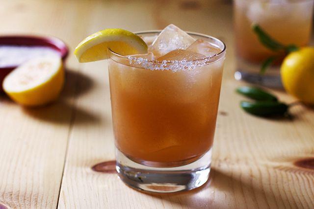 Tamarindo y Tequila | Patrón Reposado tequila, Patrón Citrónge orange liqueur, lemons, simple syrup, tamarind puree, serrano chile