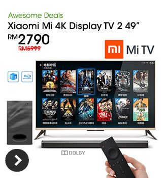 CHEAPEST IN TOWN! Xiaomi Mi 4K Display TV 2 49´´ Android 3D Television Full Set. Self-Pickup & Peninsular Delivery Available.  http://www.hulala.com.my/deal/xiaomi-mi-tv-102-5