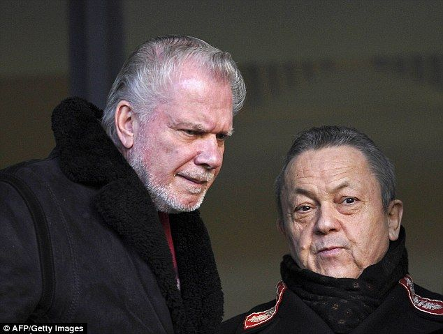 Stand by your man: West Ham's co-owners David Gold and David Sullivan kept faith in Allardyce.